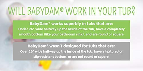 BabyDam Bathwater Barrier, Converts a Standard Non-Textured Bathtub to a Baby Bathtub by Baby Dam (Image #1)