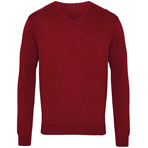 De Cuello Caballero Vino Punto jersey sweater Hombre Pico Con Premier UEqaXAw