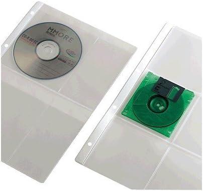 Iberplas 4754CDR - Pack de 15 fundas para CD y DVD en PVC, capacidad de para 4 CDs cada funda: Amazon.es: Oficina y papelería