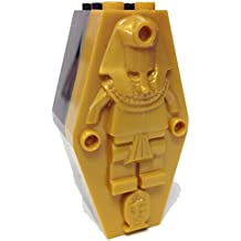 """MinifigurePacks: Lego® Monster Fighters Bundle """"(1) BLACK 2 x 4 x 6 Pharaoh Coffin/Sarcophagus Base"""" """"(1) PEARL GOLD 2 x 4 x 6 Sarcophagus Lid with (Mummy Relief Pattern)"""""""