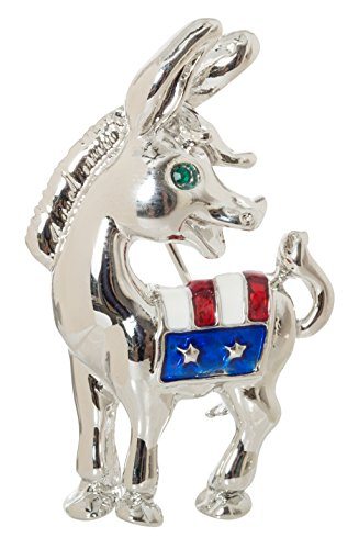Democrat Donkey with Flag Political 1.9