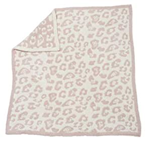 Barefoot Dreams Cozychic Barefoot in the Wild Baby Blanket - Dusty Rose / Cream