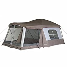 Wenzel 36424 Klondike 16-by-11-foot Eight-Person Family Cabin Dome Tent (Light Grey/Taupe/Red)