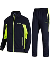 the best attitude 351c9 bc754 Men s Athletic Tracksuit Full Zip Warm Jogging Sweat Suits