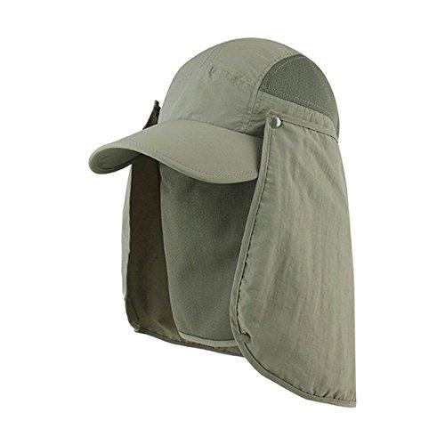 Hats & Caps Shop Juniper Taslon UV Cap w/ Removable Neck Flap - By TheTargetBuys | (OLIVE)