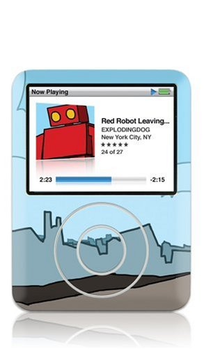 GelaSkins Protective Skin with Screen Protector for iPod nano 3G (Red Robot)