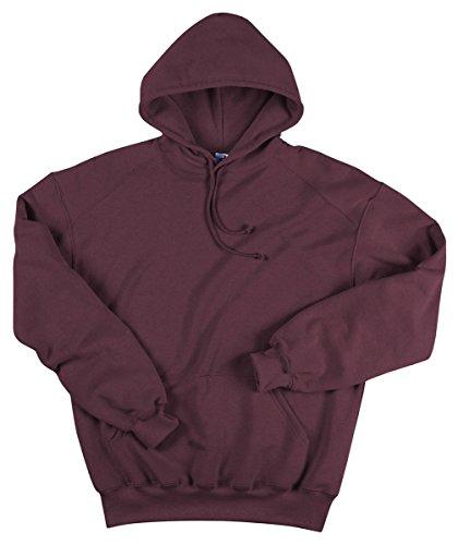 (Badger Adult Blended Hooded Sweatshirt - Maroon - M )