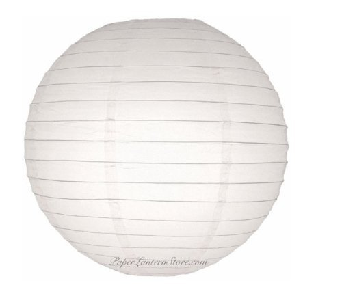 4 White Chinese/japanese Paper Lanterns 16'' by Chic Designs