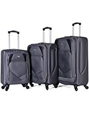 Trolley Travel Bags Set By Polo , 3 Pieces , 97305 , Grey