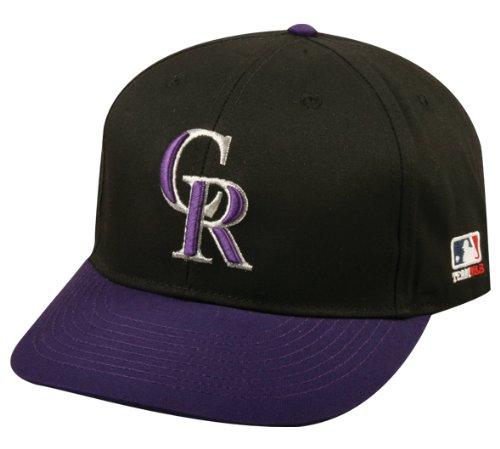 2013 Adult FLAT BRIM Colorado Rockies Alternate Black/Purple Hat Cap MLB Adjustable