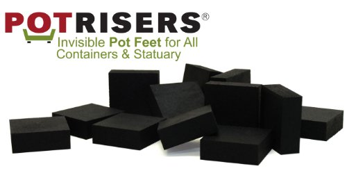 Potrisers PRB2-12 Invisible Pot Feet Black, 12 Pack supports 3-4 Large - Toes Pot