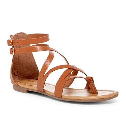 Breckelles Womens Cutout Strappy Flats Sandals product image