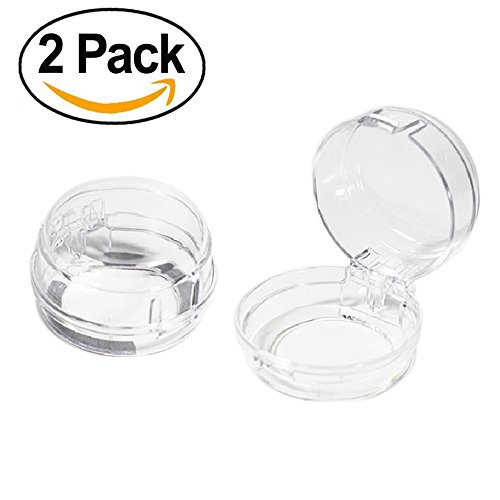 REARAND Kitchen Gas Clear Stove Oven Knob Covers For Kids Toddlers Safety Children Proof Baby Care Kit,Dustproof and Heat Resistant,Removable Reusable. (2 PACK)