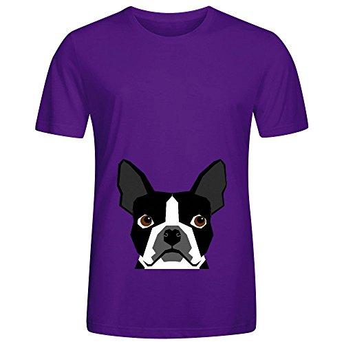 logan-boston-terrier-pet-design-mens-crew-neck-printed-tee-shirts-purple