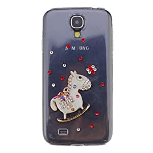 GJYTrojan Alloy Ornament Transparent Jewelry Back Case for Samsung Galaxy S4 I9500