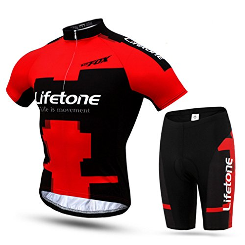 ADiPROD Cycling Jerseys, Mens Bicycle Jersey Bike Clothing Padded Shorts Cycling Wear Uniforms - Tennessee Jersey Cycling
