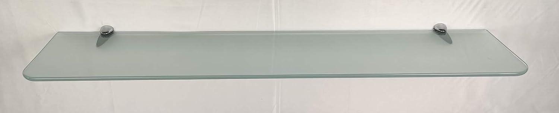 Glasregal satiniert klar 6 Größen abgerundete Ecken //Clip C325 in 5 Farben ROY15