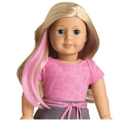American Girl Doll 'Dos™ 3 Piece Bright Highlights Set - Clip-on Highlights in Pink, Purple & Turquoise (American Girl Doll Highlights Set)