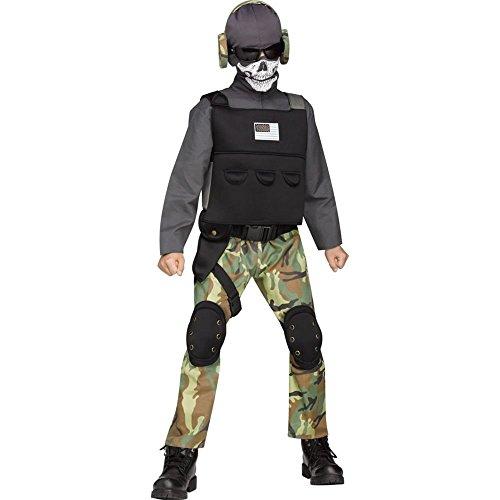 Skull Soldier Kids Costume (Halloween Costumes Soldier)