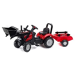 Case IH Maxxum 130 CVX Tractor with front shovel and trailer by Falk (2 to 5 years)