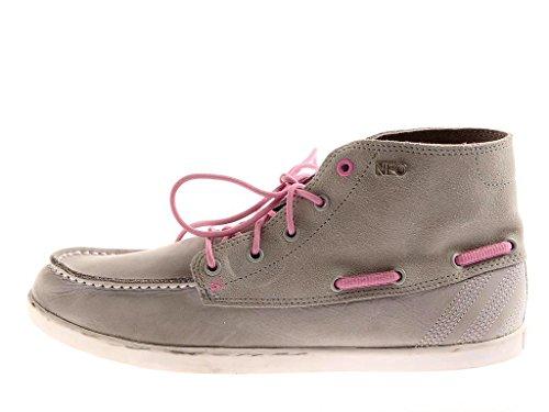 Adidas Calneo Sail Mid W Segelschuhe Leder Schuhe Damen hellgrau 6768