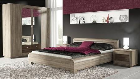 Schlafzimmer Komplett 4 Teilig 215339 Sonoma Eiche Dunkel Schwarz