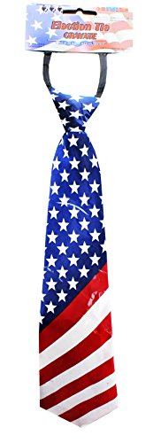 [American Flag Election Tie] (Usa Flag Dress Teen Costumes)