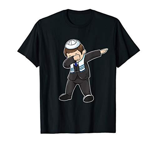 - Bar Mitzvah Dabbing Jewish Boy T Shirt Funny Hanukah Shirt