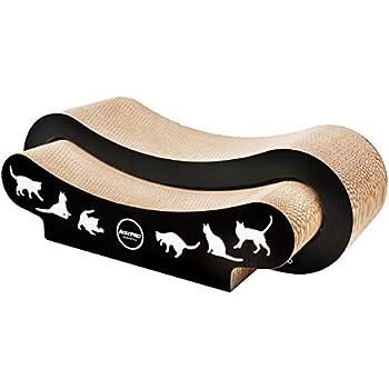 Cat Scratcher, RISEPRO 2-in-1 Premium Jumbo Cat Scratcher, Infinity Lounge Corrugated Cardboard Reversible Ergonomic Scratching Post, Cutouts to Hide Toys CSB8627-2