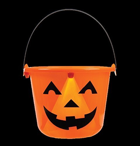 Light Up Jack O Lantern Halloween Candy Bucket Pail