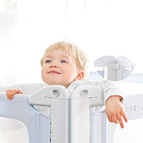 幼児長めの安全性は、支援のためのベッドrail-ベッドガードレール、ベッドのすべての種類に適したアンカーグラブバーバンパーベッドサイドレールガードを強化 (Color : Gray, Size : 200cm)