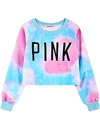 Girls Teens Womens Cute Sweetshirt Pullover Sweater Long Sleeve