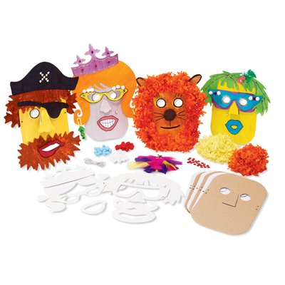 Mask Craft Kit (MindWare Make Your Own Mask Kit. Creative Arts and Crafts Fun for Ages 5 to 8)