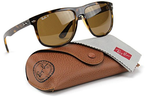 Ray-Ban RB4147 710/57 Sunglasses Tortoise Frame / Polarized Brown Lens - Ray Boyfriend Ban
