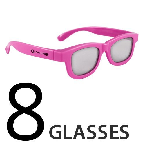 Pink-Kids-Passive-3D-Glasses-for-Movie-Theaters-TVs-Projectors-8-Pack