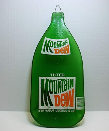 Up Cycled Large 1 Liter Mountain Dew Bottle Melted Flat Spoon Rest Cheese Board -