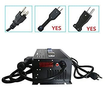 Image of Abakoo New 36V 18A Golf Cart Battery Charger with Crowsfoot Style Connector Crows Foot Plug Golf Cart Accessories