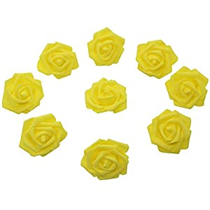 7cm DIY Real Touch 3D Artificial Floral Foam Roses Head Without Stem for Wedding Party Home Decoration-50pcs 2