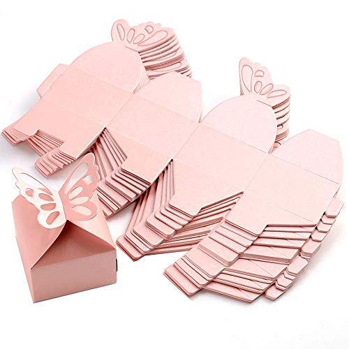 Nicedeal 50pcs Papillon Dcoration Bote  Drages Mariage Baptme Dcoration Naissance Rose Wall Sticker and Deco