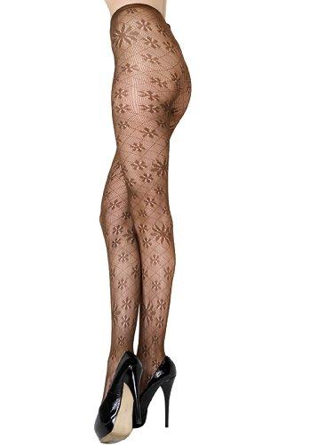 Stella Elyse Diamond Fishnet Pantyhose