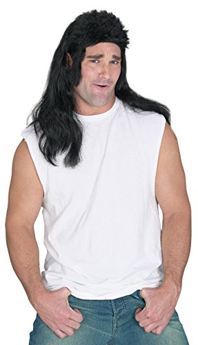 [UHC Adults Flat Top Mullet w/ Chops Hillbilly Redneck 70S Wig Costume Accessory] (Redneck Costumes For Women)