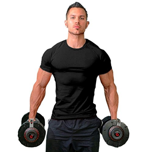 WWL Fashion Mens Workout Motivation Cool Muscle Fitness Round Neck Sports T-Shirt