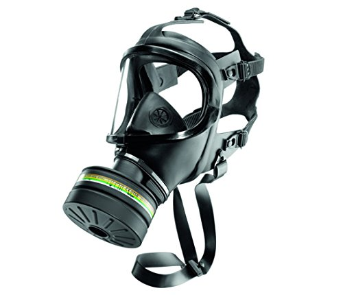 CDR 4500 Elite Gas Mask For Nuclear , Biological & Chemical Warfare NBC Protection Military Grade US NIOSH Certified Survival Full Face Mask With Filter For Kids Adults, Comfortable Robust Design