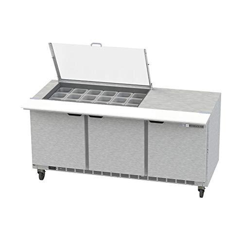 Beverage Air Mega Top - Beverage Air SPE72HC-18M-CL Clear Lid Mega Top Refrigerated Counter, 72