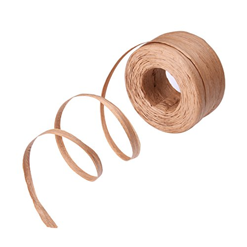 Outus Raffia Paper Craft Ribbon, 1/ 4 Inch by 100 Yards - Brown Raffia
