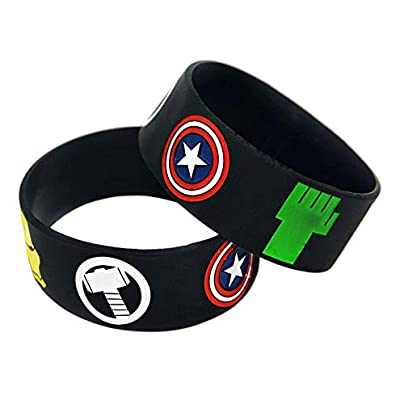 Sxuefang Silicone Bracelets With Symbol Super Heroes Rubber Wristbands For Kids Motivation For Friends Set Pieces Estimated Price £29.99 -