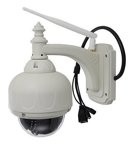 A0CHAN 720P HD P2P Wireless IP Camera Wifi Network Night Vision PTZ 4x Digital Zoom Pan/Tilt Onvif CCTV Megapixel Dome IR-CUT Outdoor Waterproof Support 64G Sd card record [並行輸入品] B01KBR61YK
