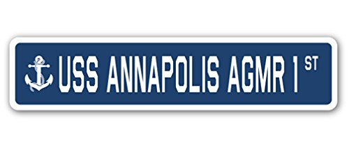 USS Annapolis Agmr 1 Street [3 Pack] of Vinyl Decal Stickers | 1.5
