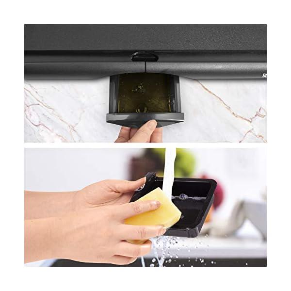 Duronic GP20 Piastra elettrica da tavolo anti aderente 2000W Piastra per teppanyaki superficie grill da 52 x 27 cm con… 5