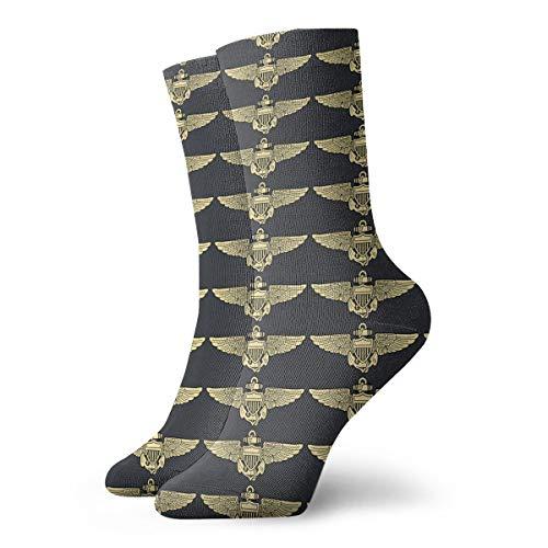 Naval Aviator Pilot Wings Tube Stockings Athletic Socks ()